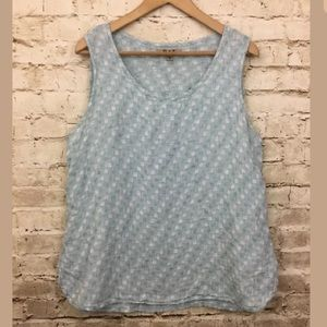 FLAX Designs LINEN Select  TANK SEA GLASS DOT